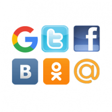 Авторизация через Вконтакте, Facebook, Одноклассники, Twitter, Gmail.com, Mail.ru